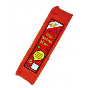 Crepe guirlande brandveilig rood