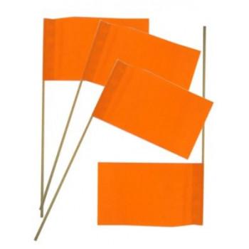 Papieren vlaggetjes oranje op stokje