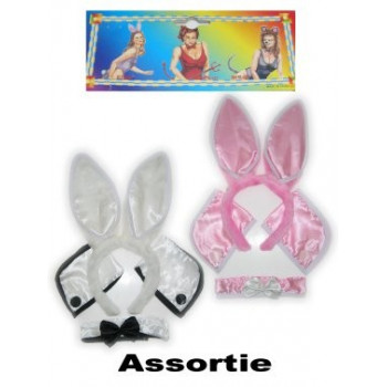 Bunnyset wit/roze ass
