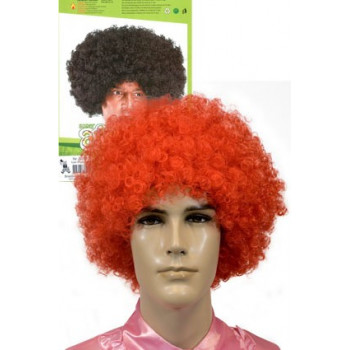 Super Afro Pruik felrood