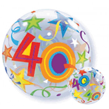 Folieballon bubbles 40