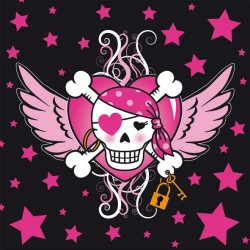 Servetten Pirate Girl 33x33cm