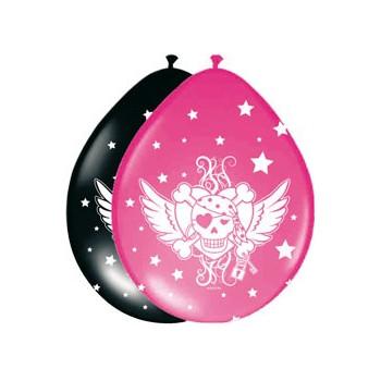 Ballonnen Pirate Girl / 8 st