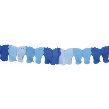 Papierenslinger voet blauw 6m