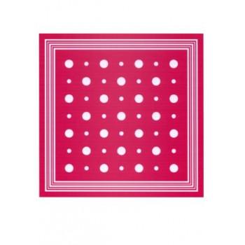 Zakdoek rood met witte stippen