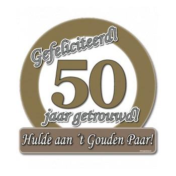 Verkeersbord 50 jaar getrouwd