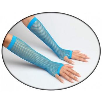 Vingerloze handschoenen fluor blauw
