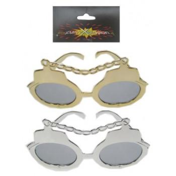Bril handboeien goud/zilver