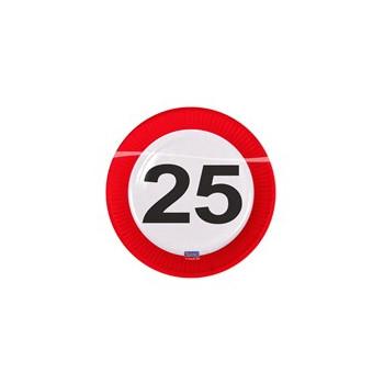 Bordjes verkeersbord 25