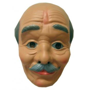 Masker plastic opa kaalhoofd + snor