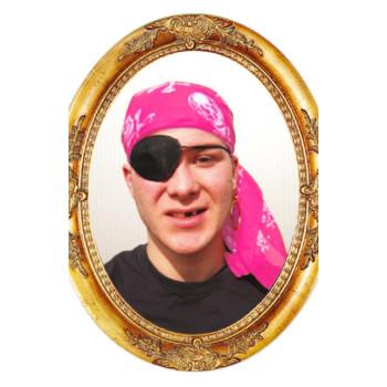 Piraten hoofddoek roze