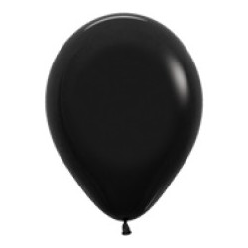 Ballon zwart per stuk