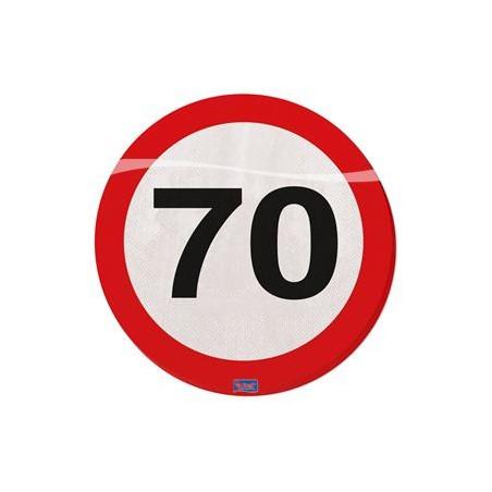 Servetten verkeersbord 70