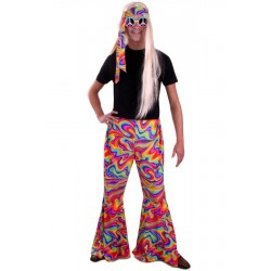 Hippie broek heren rainbow