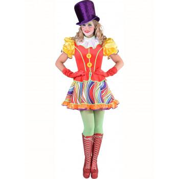 Clown regenboog jurk