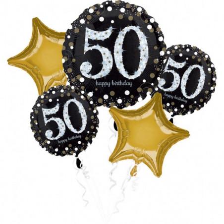 Boeket folie ballonnen 50