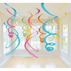 Hangdecoratie assortie swirls