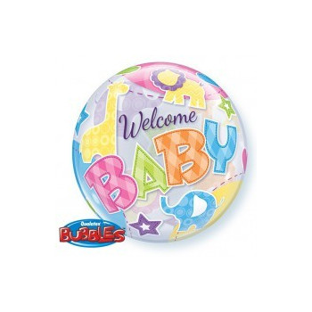Folieballon bubbles welcome baby