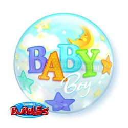 Folieballon bubbles moon boy