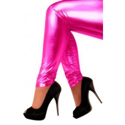 Legging metallic roze