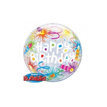 Bubbles folie ballon birthday kaarsen