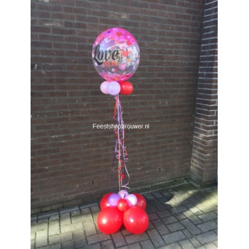 Ballon decoratie helium love you
