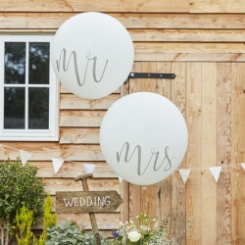 Mr en Mrs ballonnen groot