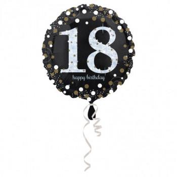 Folieballon sparkling 18 zilver