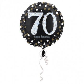 Folieballon sparkling zilver 70