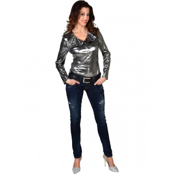 Dames blouse zilver