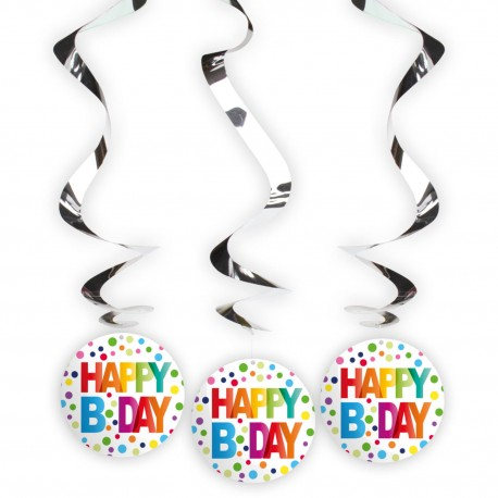 Spiralen happy birthday confetti