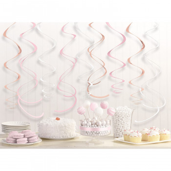 Rose goud blush swirls decoratie