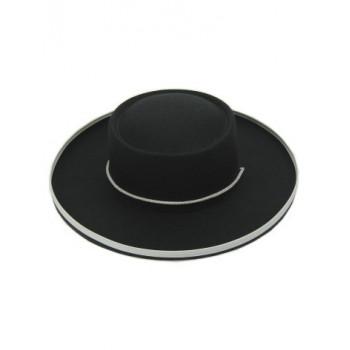 Zwarte ruiter hoed volwassen