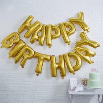 Happy Birthday opblaas set