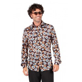 Retro blouse flowres