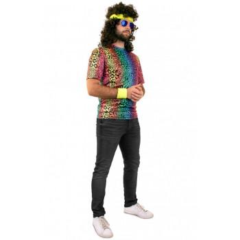 T shirt neon panter print