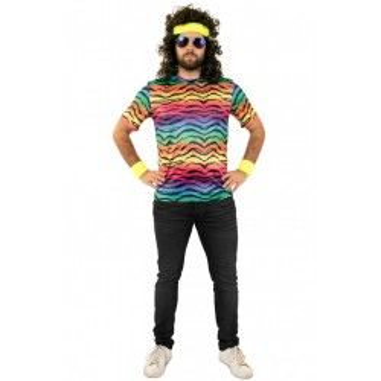 T shirt neon tijger print