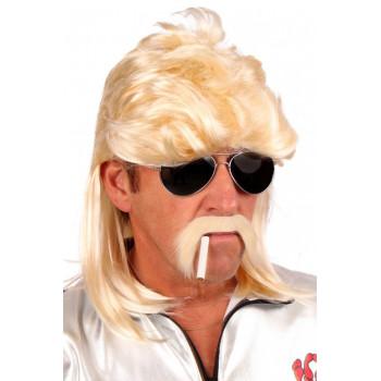 Pruik blond met matje