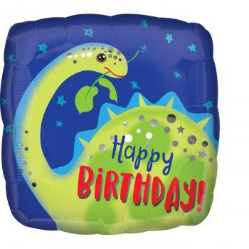 Folieballon brontosaurus happy