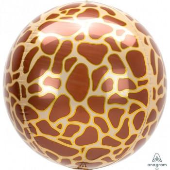 Folieballon orbz giraffe print