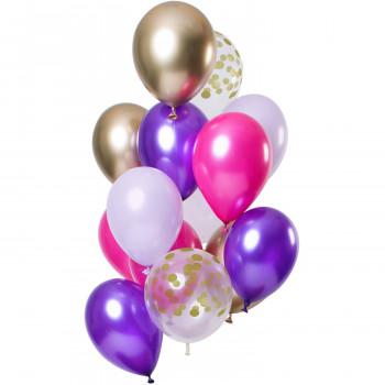 Ballonnen set paars
