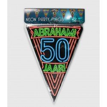 Vlaggenlijn neon Abraham