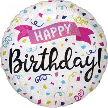 Folieballon happy birthday sparkle