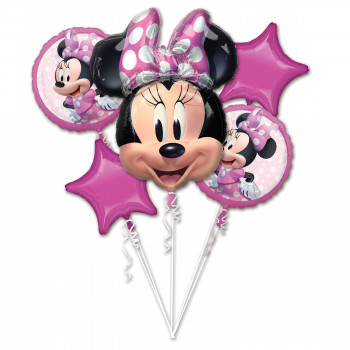 Folieballonnen boeket Minnie Mouse