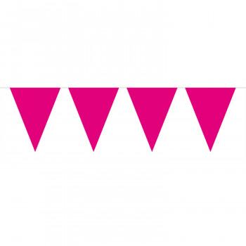 Vlaggenlijn fuchsia roze 10 mtr