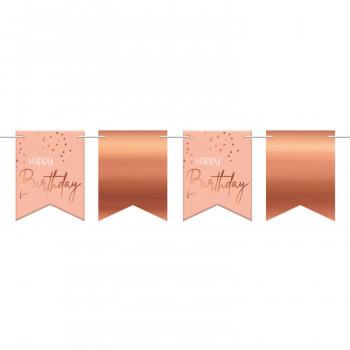 Vlaggenlijn roze elegant happy birthday