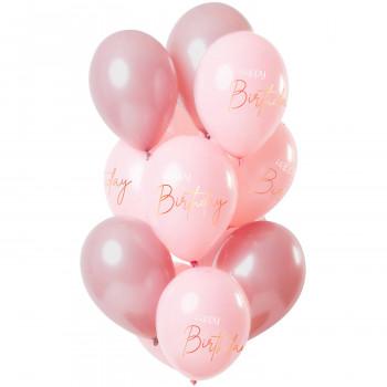 Ballonnen roze happy birthday