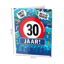 Window sign 30 jaar