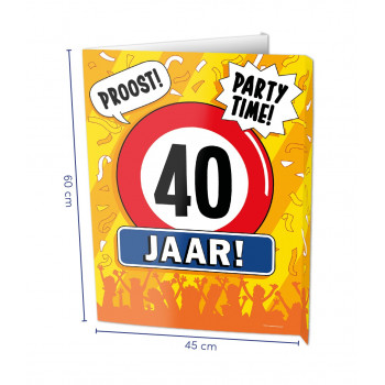 Window sign 40 jaar
