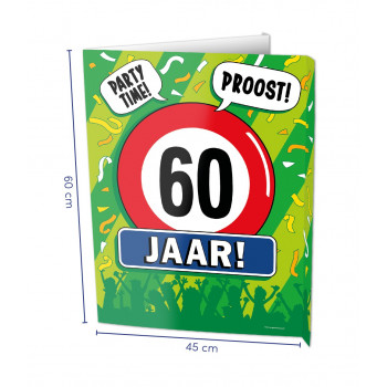 Window sign 60 jaar